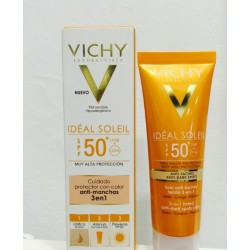 VICHY IDEAL SOLEIL SPF-50+ CUIDADO ANTIMANCHAS 3 EN 1 COLOR 50 ML