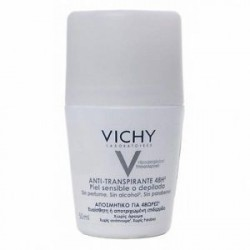 VICHY DESODORANTE ANTITRANSPIRANTE 48h PIEL SENSIBLE 50 ML ROLL-ON