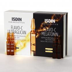Isdinceutics Flavo-C pack ultraglican + melatonin, 10+10 ampollas