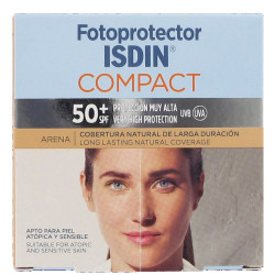 FOTOPROTECTOR ISDIN COMPACT SPF50+ MAQUILLAJE ARENA