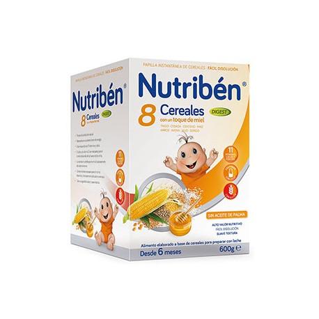 NUTRIBEN 8 CEREALES Y MIEL EFECTO BÍFIDUS 600 G