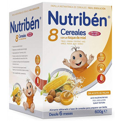 NUTRIBEN 8 CEREALES CON UN TOQUE DE MIEL FRUTOS SECOS