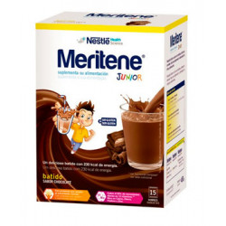 MERITENE JUNIOR BATIDOS SABOR CHOCOLATE 15 SOBRES