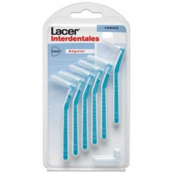 LACER CEPILLO INTERDENTAL CONICO ANGULAR 6UDS