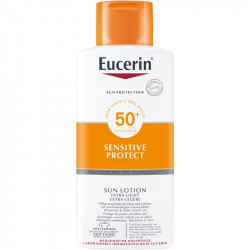 EUCERIN SUN PROTECTION SPF50+ LOTION EXTRA LIGHT  400ML+REGALO PH5 LOCIÓN 200 ML