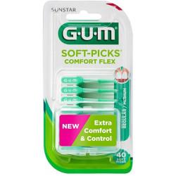 GUM SOFT PICKS COMFORT FLEX REGULAR 40 UNIDADES