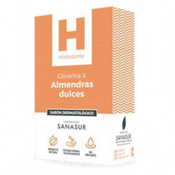 SANASUR JABÓN DERMATOLÓGICO GLICERINA ACEITE DE ALMENDRAS 100G