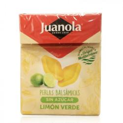 JUANOLA PERLAS BALSÁMICAS SABOR LIMÓN VERDE SIN AZÚCAR