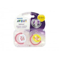 AVENT PHILIPS CHUPETE ORTHODONTIC FASHION 0-6 M 2 U